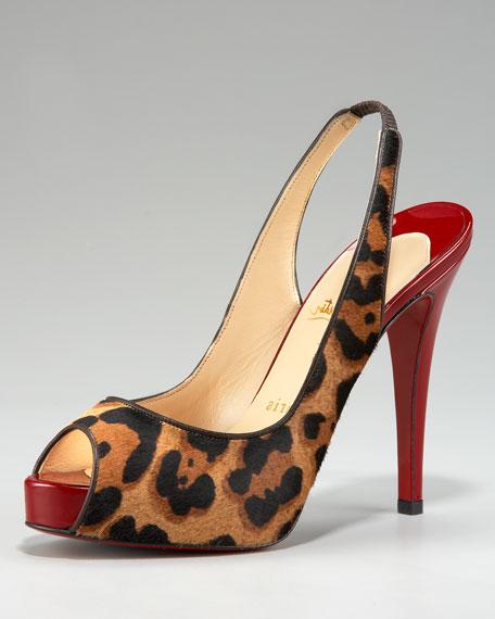 Leopard-Print Slingback Sandal