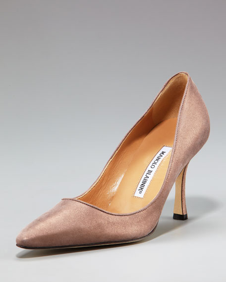 Manolo Blahnik Pointed-Toe Patent Pump