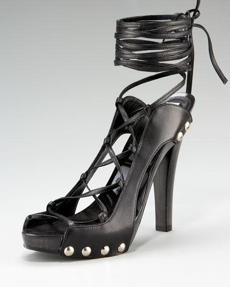 Manolo Blahnik Strappy Clog Sandal