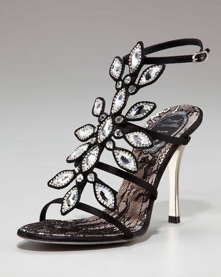 Jeweled T-Strap Sandal