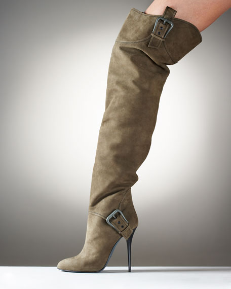 Over-The-Knee Buckle Boot