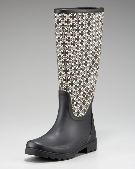 Tory Jacquard Rain Boot
