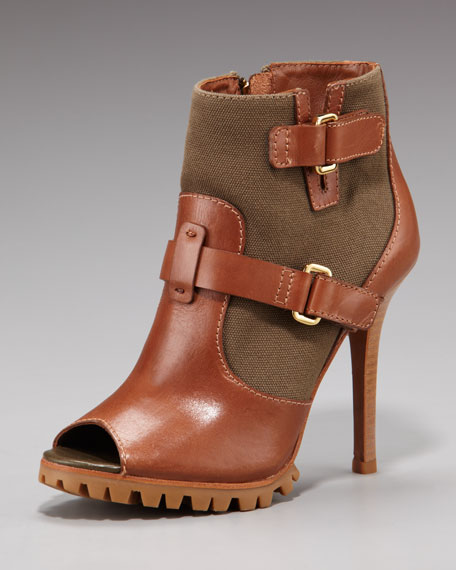 Lugged-Sole Bootie