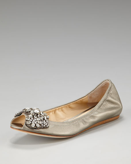 Luna Jeweled Ballerina Flat