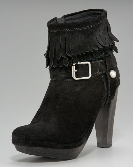 Clancy Fringe Ankle Boot