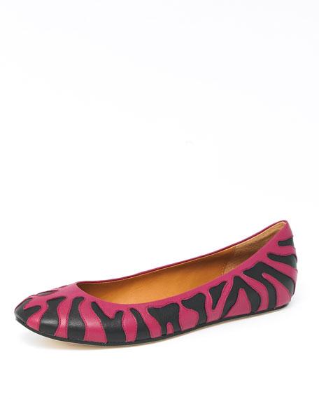 Ontario Zebra-Print Flat