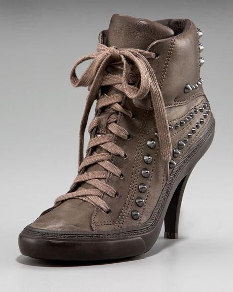 Studded-Heel Sneaker Bootie