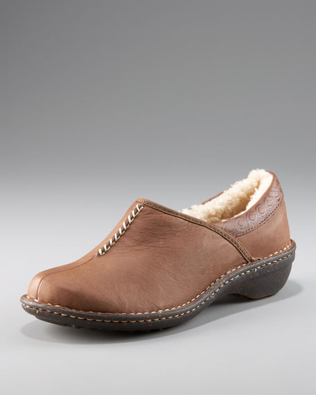 Bettey Shearling Lined Slip-On Clog