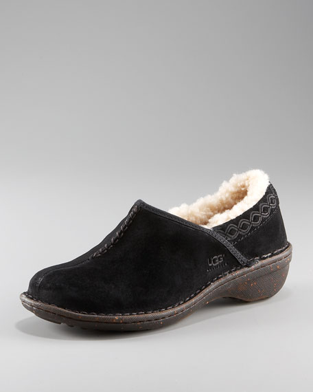 Bettey Shearling-Lined Clog