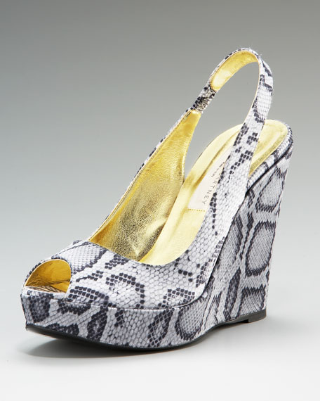 Stella McCartney Animal-Print Wedge Pump