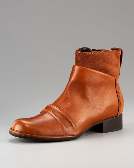 Suede and Leather Ankle Boot