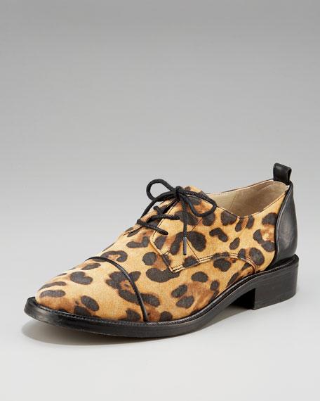 Leopard-Print Derby Oxford