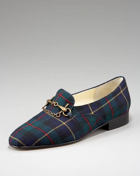 Bettye Muller Tartan Chain Loafer