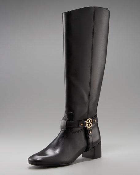 Donovan Mid-Heel Leather Boot