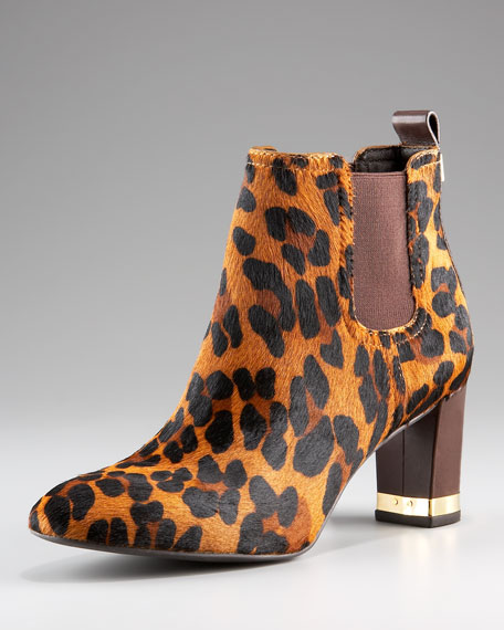 April Calf Hair Leopard Bootie