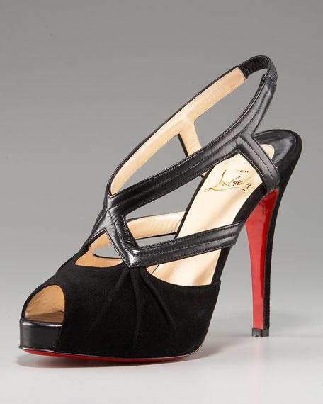 Angela Peep-Toe Platform Sandal