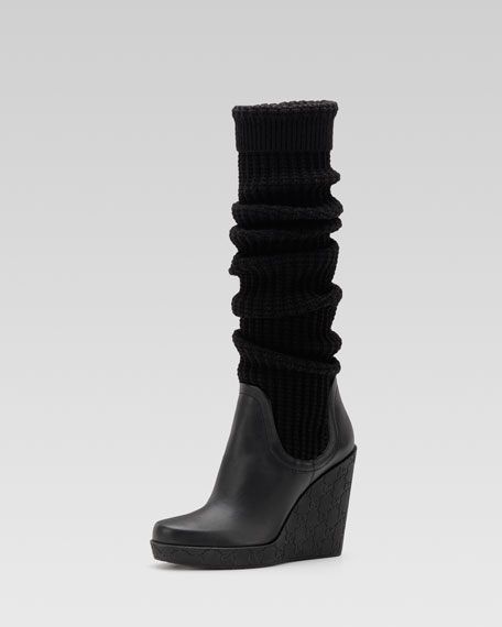 Lola High-Heel Wedge Boot