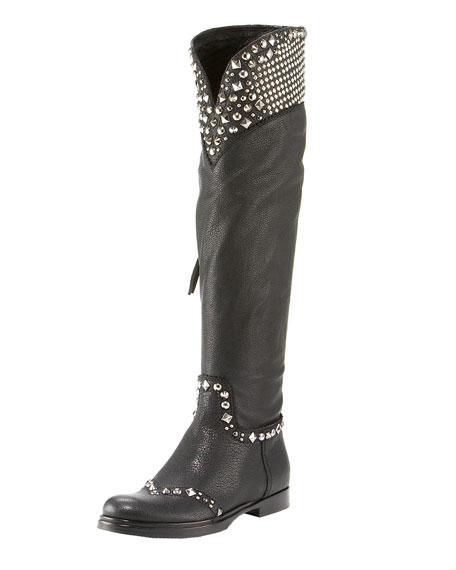 Studded Tall Knee Boot