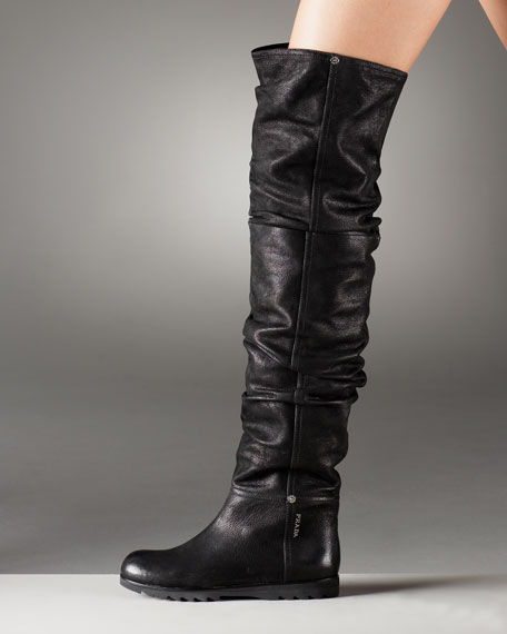 Over-the-Knee Ruched Boot