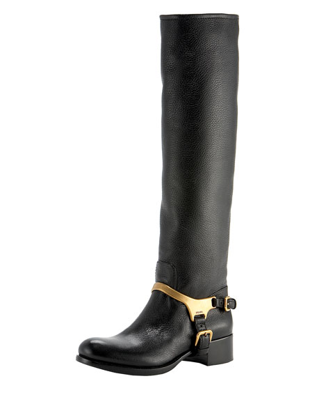 Tall Harness Slouch Boot
