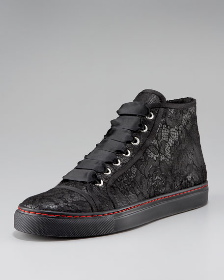 Lace High-Top Sneaker