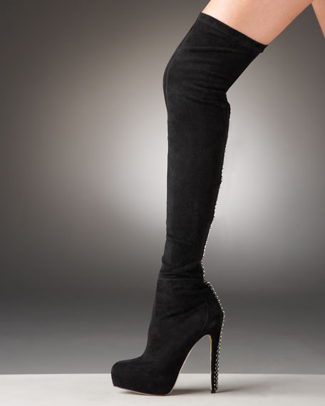 Chain-Back Over-the-Knee Boot