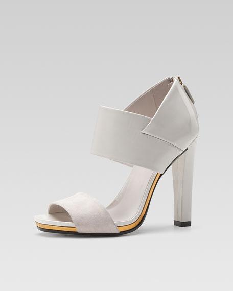Karen High-Heel Platform Sandal, White