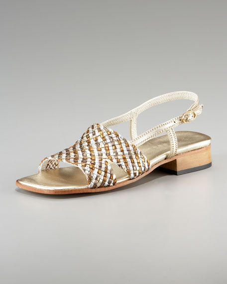 Woven Slingback Sandal
