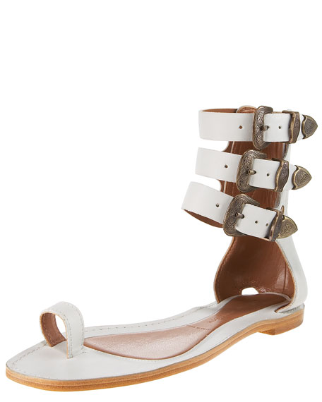 Triple-Strap Gladiator Sandal