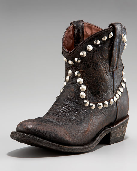 Stud-Trim Mid-Calf Boot