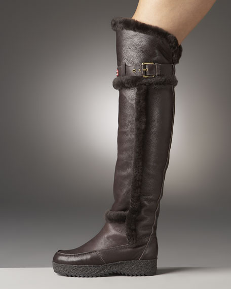 Cervina Over-The-Knee Wedge Boot