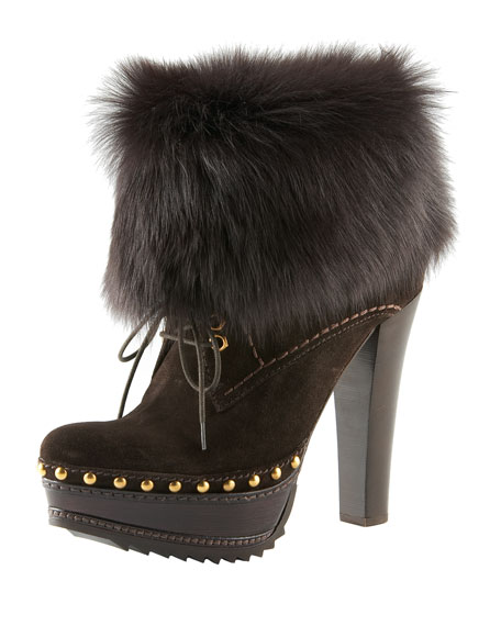 Fur Cuff Ankle Boot
