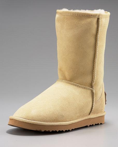 Classic Cozy Short Boot, Sand