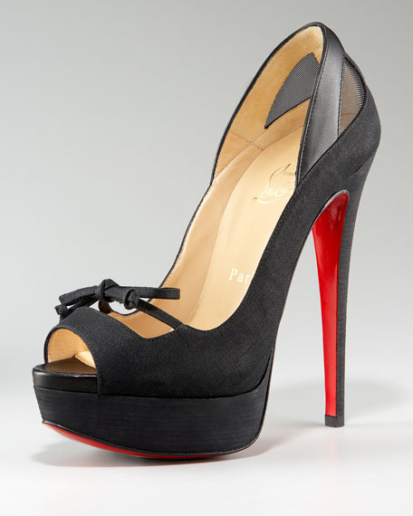 Maleva Peep-Toe Mary Jane Pump