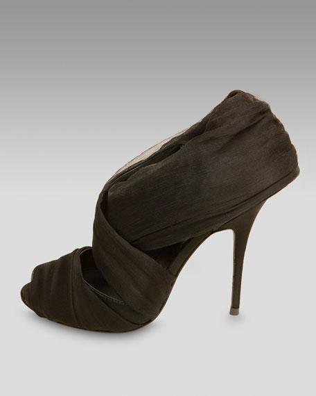 Chiffon Draped Sandal