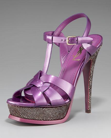 Stingray-Heel Tribute Sandal, Purple