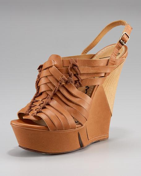 Halter Sliced Wedge Sandal