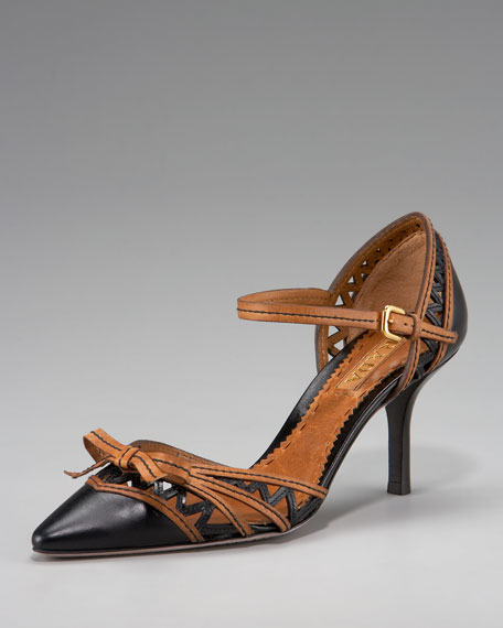 Mary-Jane Pointed Toe Pump