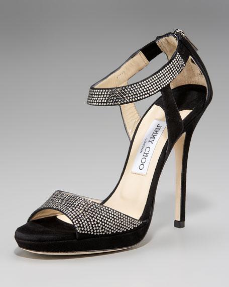 Ankle-Wrap Platform Sandal