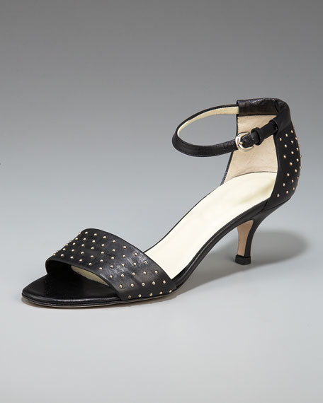 Studded Kitten-Heel Handle