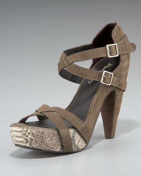 Snakeskin Platform Sandal