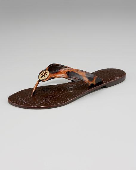 Leopard-Print Thong Sandal