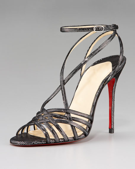 Strappy Metallic-Square Sandal