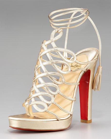 Tasseled Latticework Sandal