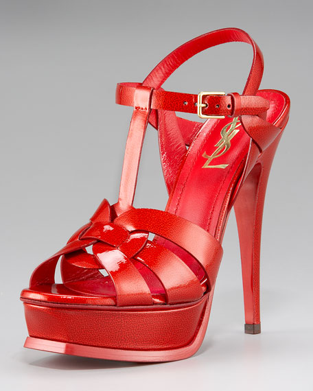 Tribute Patent Sandal, Red