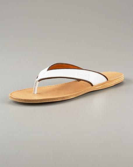 Camia Vachetta Leather Thong Sandal