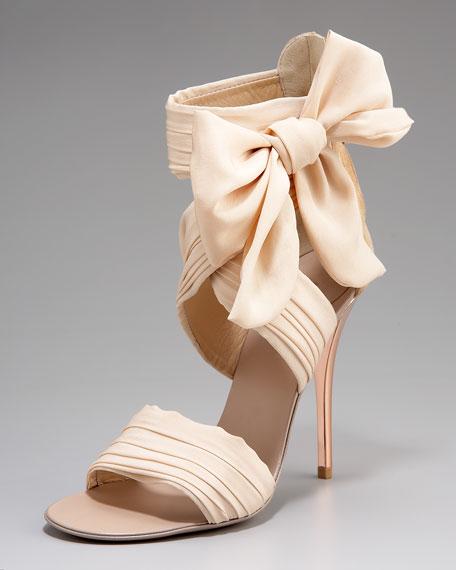 Chiffon-Bow Sandal