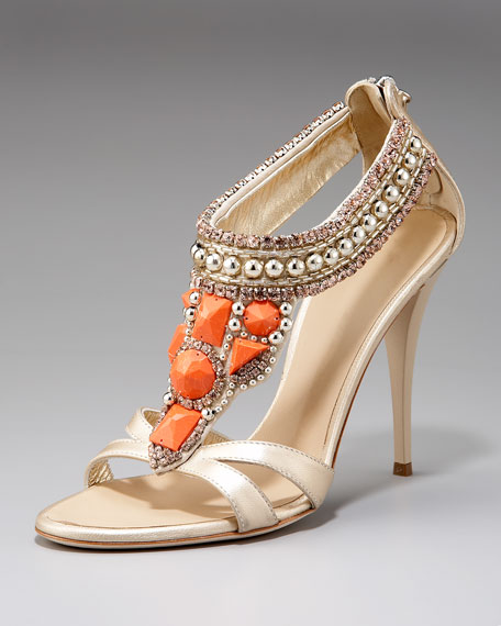 Embellished High-Heel Sandal