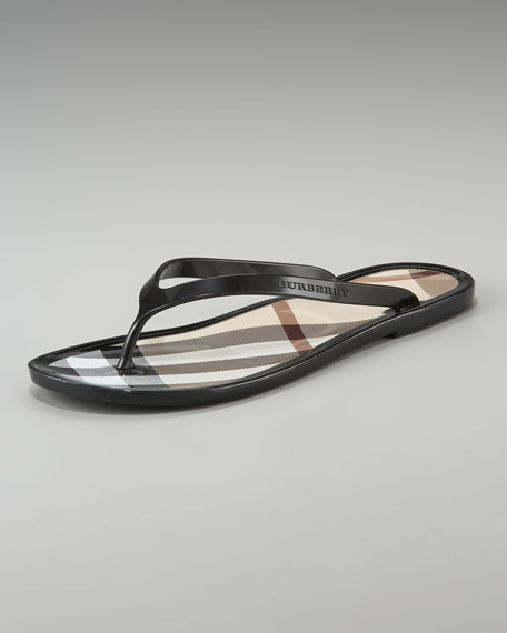 Signature Check Jelly Flip-Flop