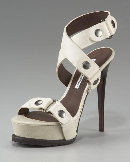 Brie Ankle-Wrap Platform Sandal